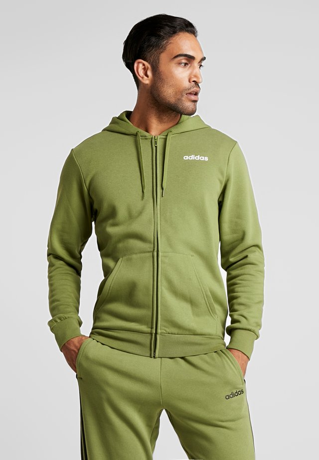 ESSENTIALS SPORTS HOODED TRACK - Sudadera con cremallera - tech olive