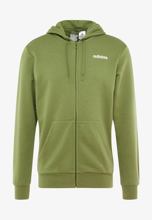 ESSENTIALS SPORTS HOODED TRACK - Mikina na zip - tech olive