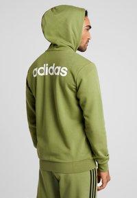 adidas Performance - veste en sweat zippée - tech olive - 2