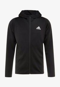 adidas Performance - WARM HOODIE - Sweatjacke - black - 4