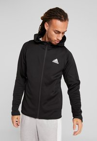 adidas Performance - WARM HOODIE - Sweatjacke - black - 0