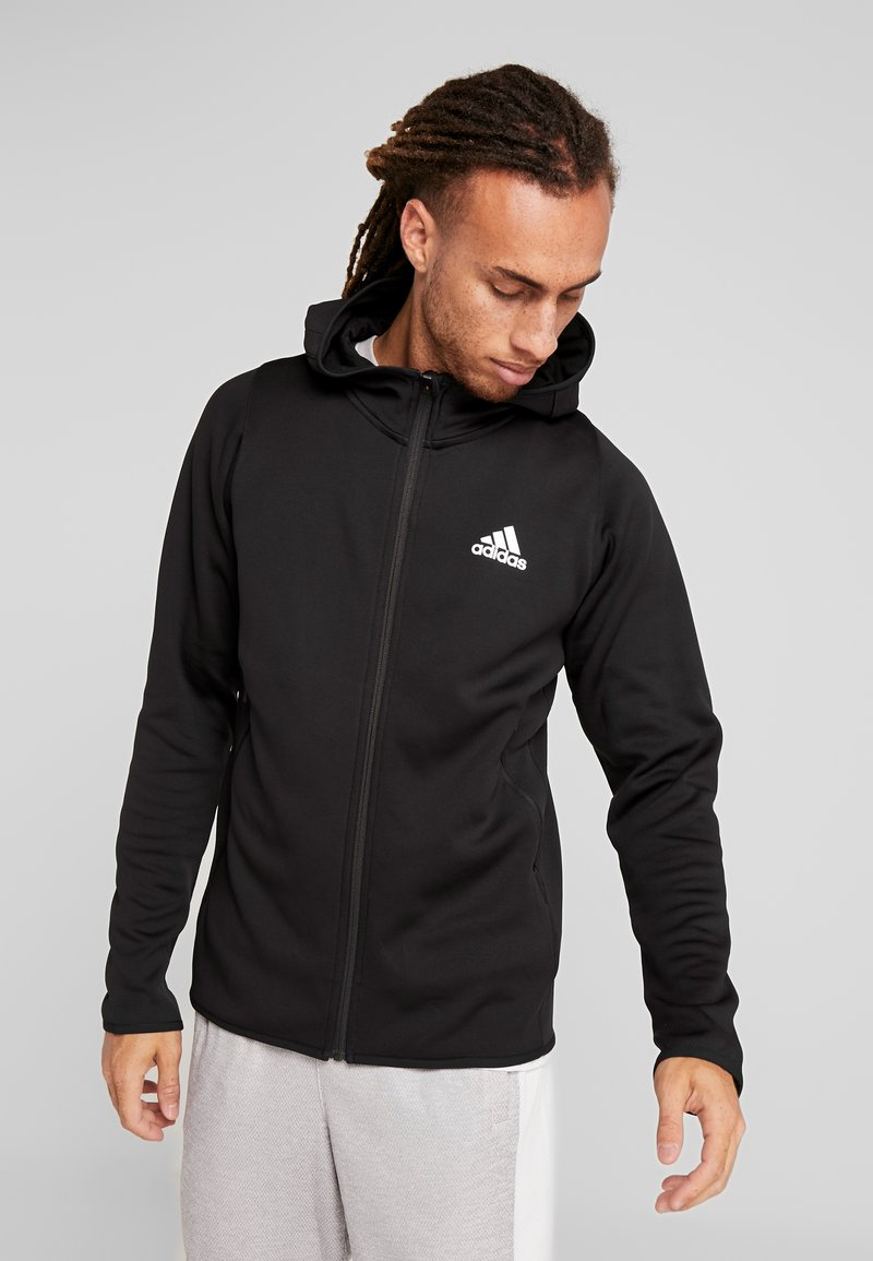 adidas Performance - WARM HOODIE - Sweatjacke - black