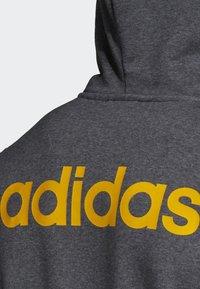 adidas Performance - LINEAR HOODIE - Zip-up hoodie - grey - 5