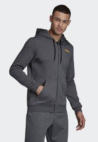 adidas Performance - LINEAR HOODIE - Zip-up hoodie - grey - 3