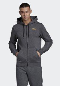 adidas Performance - LINEAR HOODIE - Zip-up hoodie - grey - 0