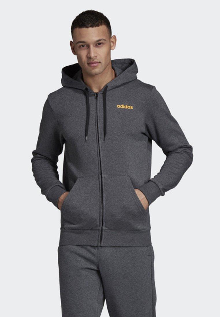 adidas Performance - LINEAR HOODIE - Zip-up hoodie - grey