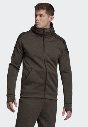 ADIDAS Z.N.E. FAST RELEASE HOODIE - Sudadera con cremallera - brown