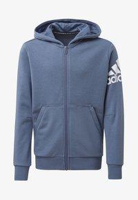 adidas Performance - MUST HAVES BADGE OF SPORT JACKET - Hoodie met rits - blue - 0