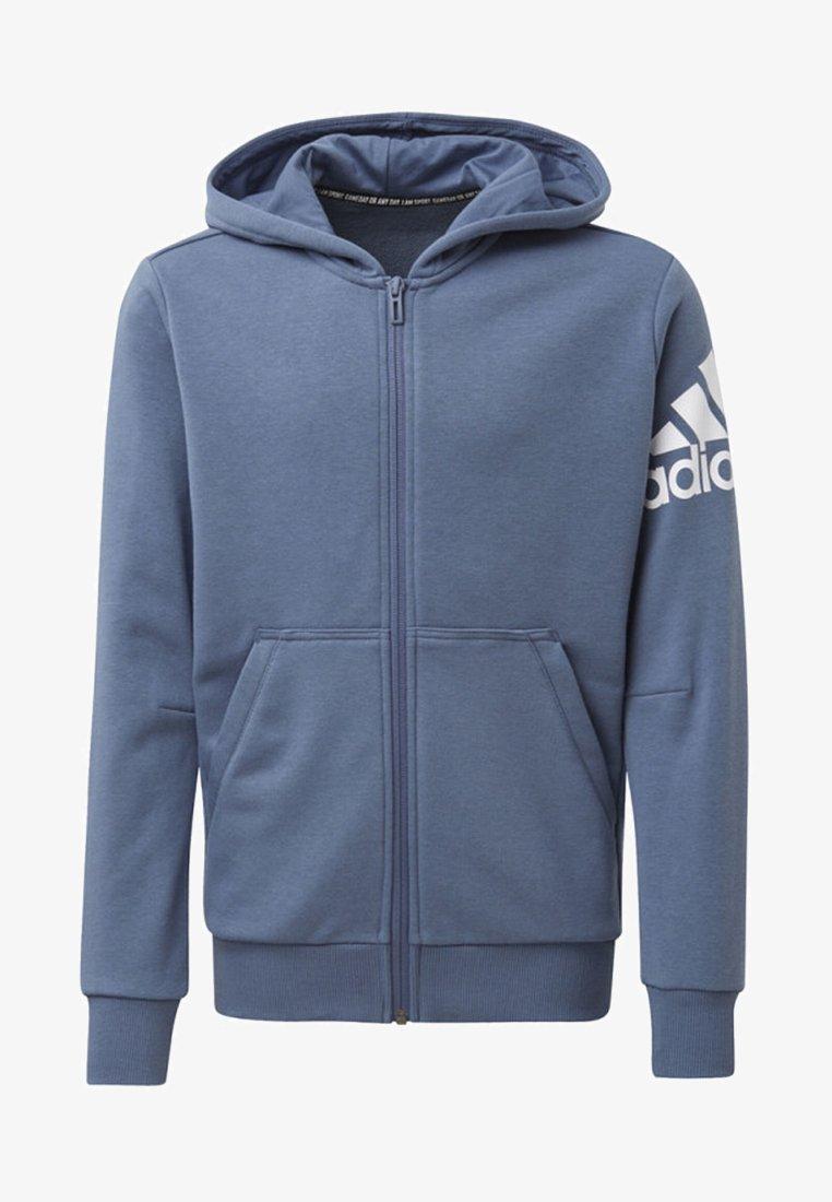 adidas Performance - MUST HAVES BADGE OF SPORT JACKET - Hoodie met rits - blue