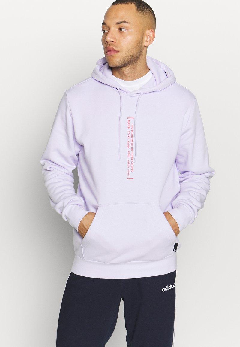 adidas Performance - Kapuzenpullover - purple