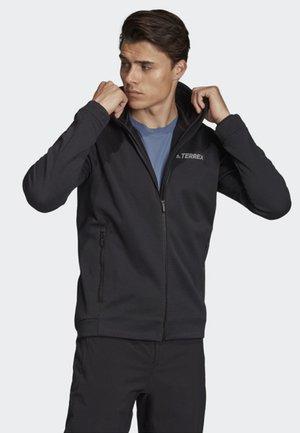 CLIMAHEAT HOODED FLEECE JACKET - Fleece jacket - black