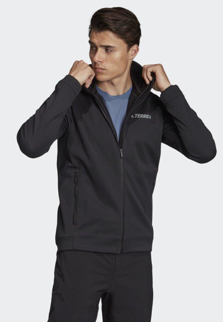 adidas Performance - CLIMAHEAT HOODED FLEECE JACKET - Fleece jacket - black