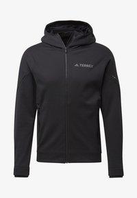 adidas Performance - CLIMAHEAT HOODED FLEECE JACKET - Fleece jacket - black - 6