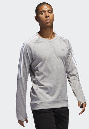 OWN THE RUN 3-STRIPES CREW SWEATSHIRT - Sweatshirt - grey