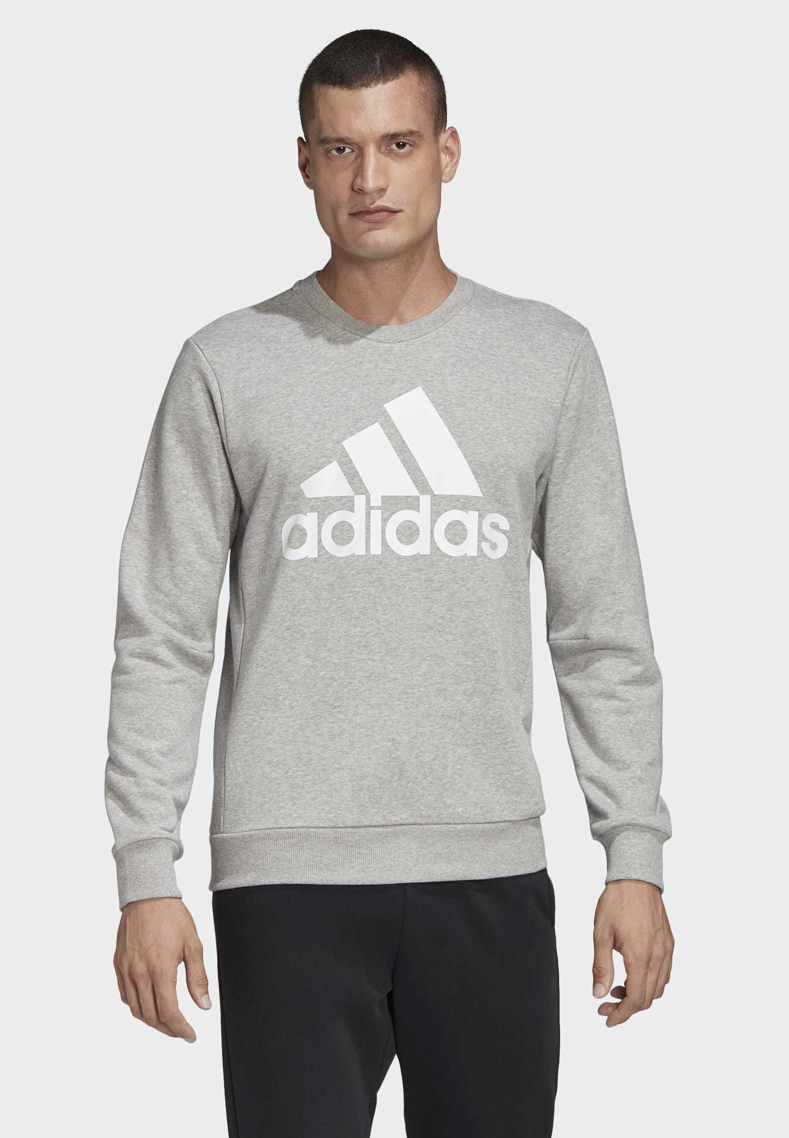 adidas Performance MUST HAVES BADGE OF SPORT CREW SWEATSHIRT - Sweatshirt - grey