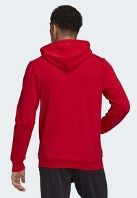 adidas Performance - MUST HAVES BADGE OF SPORT HOODIE - Huppari - red - 1