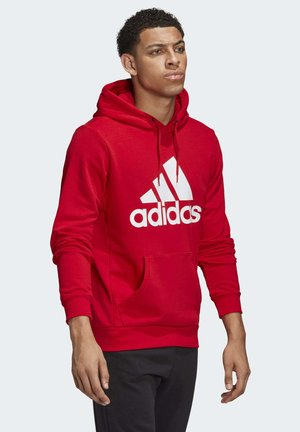 MUST HAVES BADGE OF SPORT HOODIE - Luvtröja - red