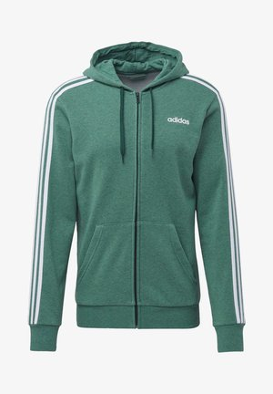 ESSENTIALS 3-STRIPES TRACK TOP - Hoodie met rits - green
