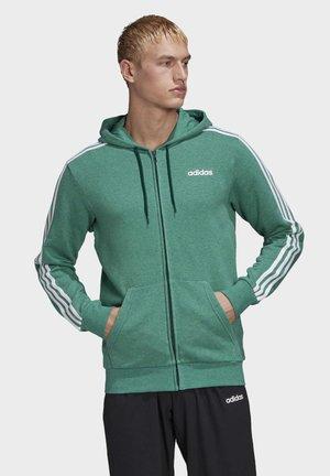 ESSENTIALS 3-STRIPES TRACK TOP - Zip-up hoodie - green