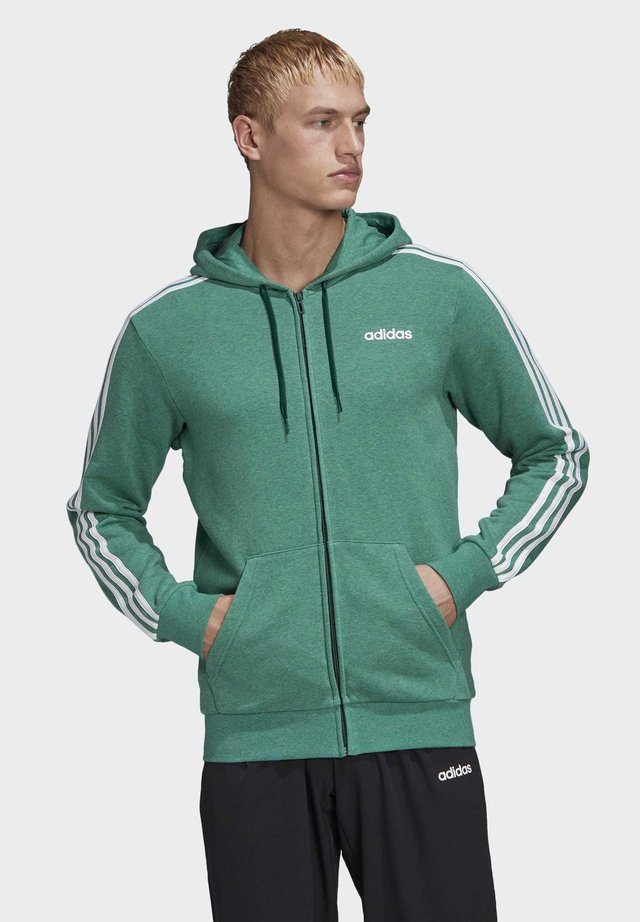 ESSENTIALS 3-STRIPES TRACK TOP - Zip-up hoodie - green