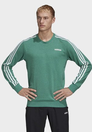 ESSENTIALS 3-STRIPES SWEATSHIRT - Sweatshirt - green
