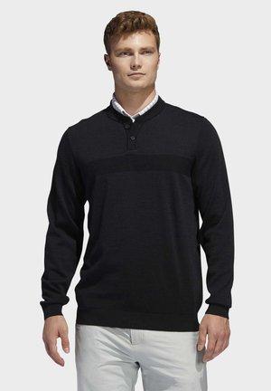 ADIPURE TECH HENLEY SWEATSHIRT - Sweatshirt - black