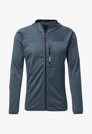 TRACEROCKER HOODED FLEECE JACKET - Fleece jacket - blue