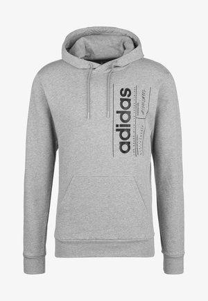 ADIDAS PERFORMANCE BRILLIANT BASICS KAPUZENPULLOVER HERREN - Hoodie - medium grey/black