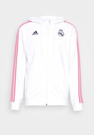 REAL MADRID SPORTS FOOTBALL HOODED JACKET - Bluza rozpinana - white/dark blue