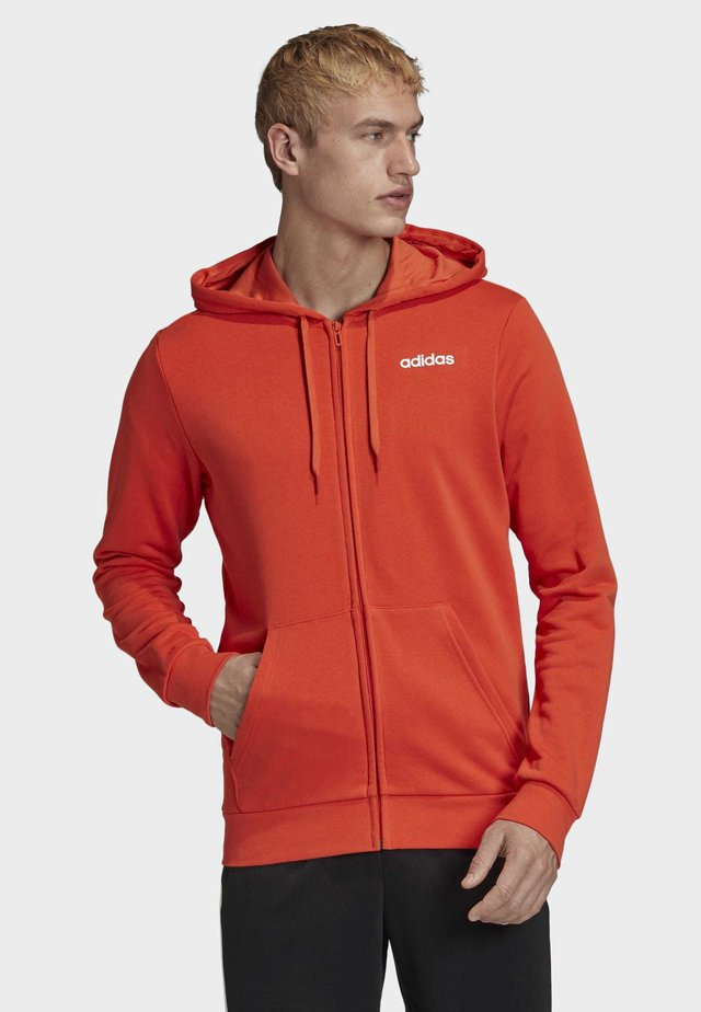 ESSENTIALS LINEAR FRENCH TERRY HOODIE - Felpa aperta - orange
