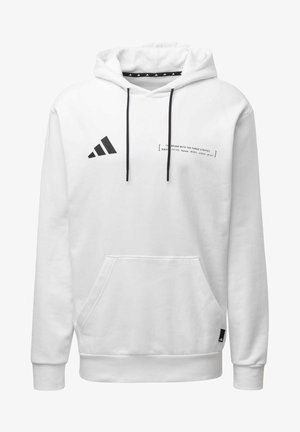 ADIDAS ATHLETICS PACK HOODIE - Bluza z kapturem - white
