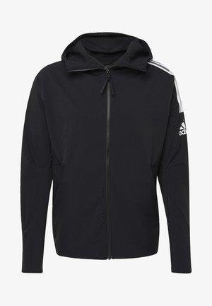 ADIDAS Z.N.E. WOVEN HOODIE - veste en sweat zippée - black