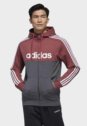ESSENTIALS COLORBLOCK HOODED TRACK TOP - Zip-up hoodie - red