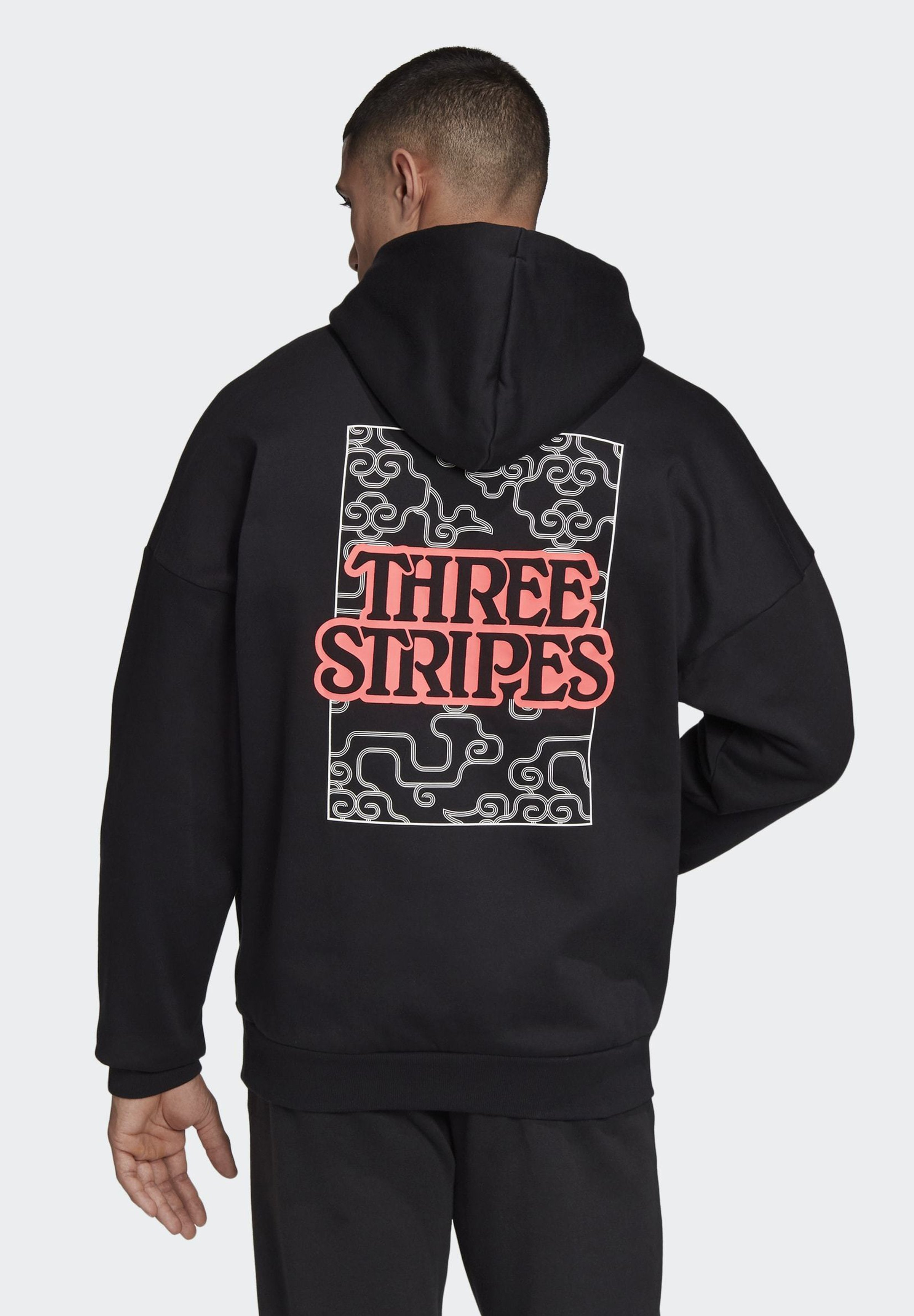 Adidas Performance The Cloud 3-stripes Graphic Hoodie - Hættetrøjer Black
