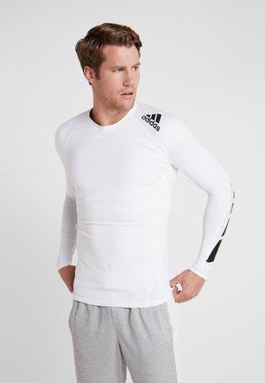ALPHASKIN SPORT MOTO COMPRESSION T-SHIRT - T-shirt de sport - white