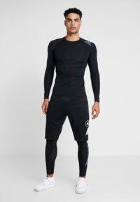 adidas Performance - ALPHASKIN SPORT MOTO COMPRESSION T-SHIRT - Camiseta de deporte - black - 1