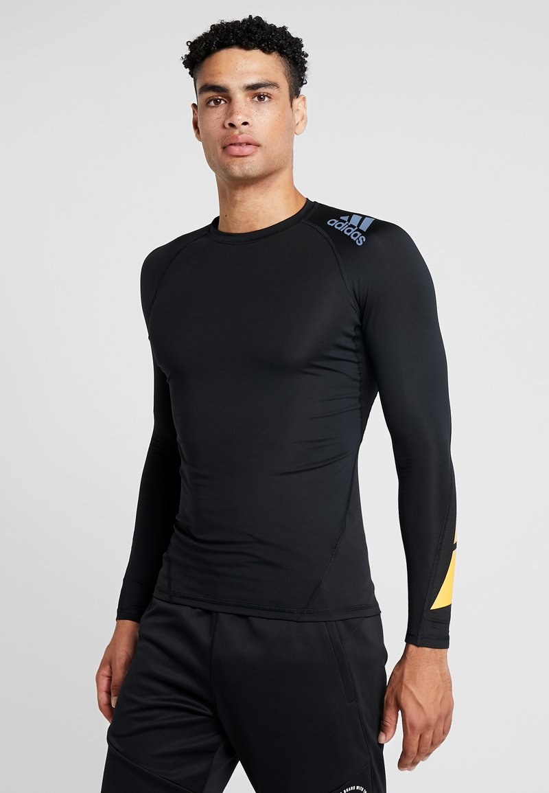 adidas Performance - ALPHASKIN SPORT MOTO COMPRESSION T-SHIRT - Sports shirt - black