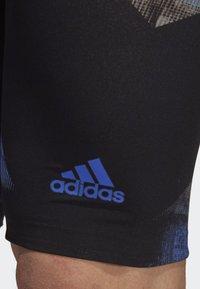 adidas Performance - ADIZERO XVIII FREESTYLE JAMMER - Zwemshorts - black/blue - 4
