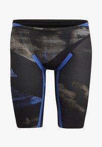 adidas Performance - ADIZERO XVIII FREESTYLE JAMMER - Zwemshorts - black/blue - 7