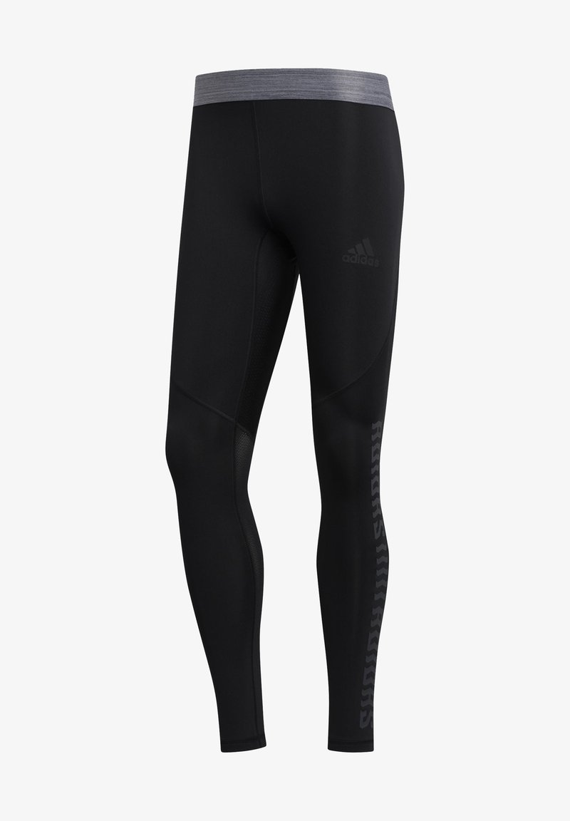 adidas Performance - ALPHASKIN GRAPHIC LONG TIGHTS - Leggings - black