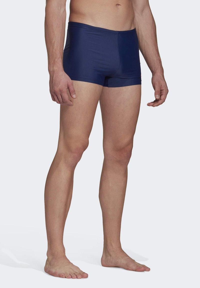 adidas Performance - BADGE SWIM FITNESS BOXERS - Zwemshorts - blue/orange