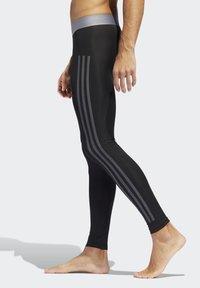 adidas Performance - ALPHASKIN 3-STRIPES LONG TIGHTS - Unterhose lang - black - 2