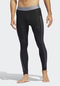 adidas Performance - ALPHASKIN 3-STRIPES LONG TIGHTS - Unterhose lang - black - 0