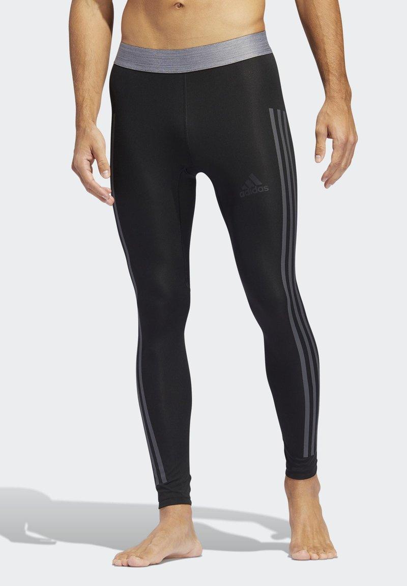 adidas Performance - ALPHASKIN 3-STRIPES LONG TIGHTS - Unterhose lang - black