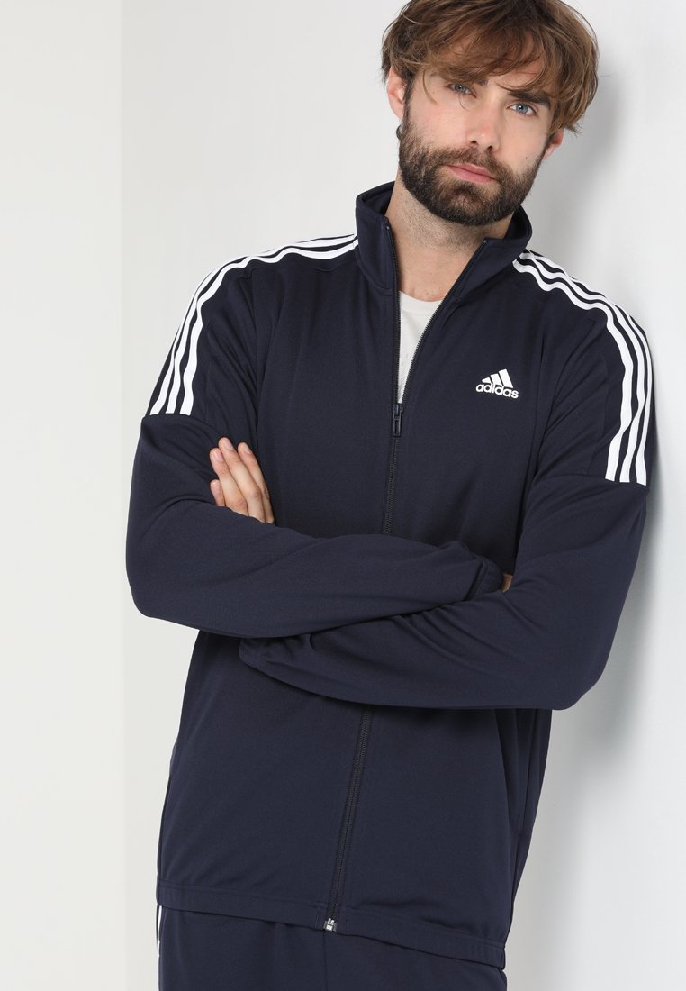 adidas Performance - TEAM SET - Tracksuit - active maroon/legend ink/white