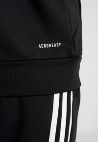 adidas Performance - 3STRIPES AEROREADY ATHLETICS SPORT TRACKSUIT - Tepláková souprava - black/white - 10