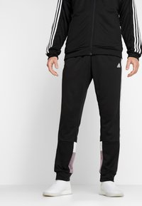 adidas Performance - 3STRIPES AEROREADY ATHLETICS SPORT TRACKSUIT - Tepláková souprava - black/white - 3