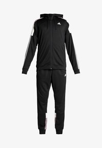 adidas Performance - 3STRIPES AEROREADY ATHLETICS SPORT TRACKSUIT - Tepláková souprava - black/white - 9