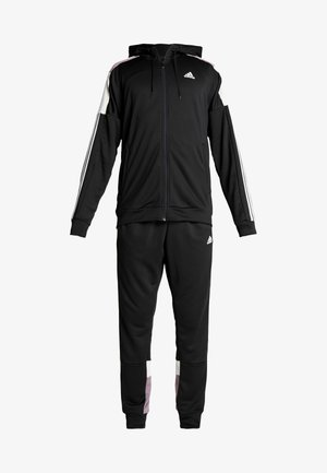 3STRIPES AEROREADY ATHLETICS SPORT TRACKSUIT - Dres - black/white