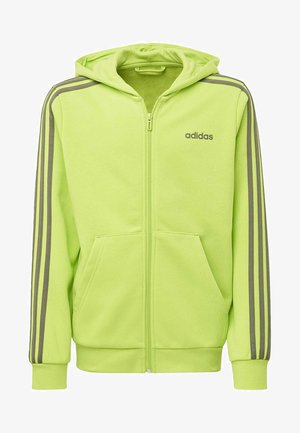 ESSENTIALS 3-STRIPES HOODIE - Zip-up hoodie - green